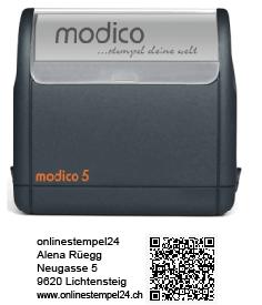 modico 5 schwarz QR 63x24mm