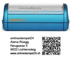 modico P4 blau QR 57x20mm