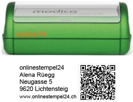 modico P4 grün QR 57x20mm